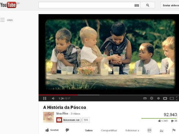 Vídeo mostra Paixão de Cristo narrada e encenada por crianças (Foto: Reprodução/ Youtube)