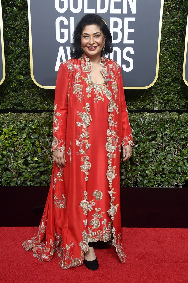 BEVERLY HILLS, CA - JANUARY 07:  Actor Zenobia Shroff attends The 75th Annual Golden Globe Awards at The Beverly Hilton Hotel on January 7, 2018 in Beverly Hills, California.  (Photo by Frazer Harrison/Getty Images) (Foto: Getty Images)