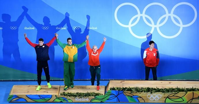 Phelps, Le Clos e Cseh empatados com a prata natação (Foto: Getty Images)
