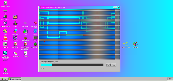 Defrag é um desfragmentador de disco com o jogo da cobrinha incluso (Foto: Reprodução/Elson de Souza)