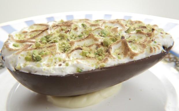Que Seja Doce - Ep. 44 - Ovo de colher de creme de damasco com ganache de iogurte (Foto: Adalberto de Melo 'Pygmeu')
