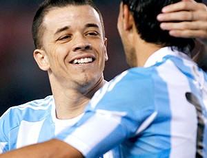 D'Alessandro no amistoso da Argentina (Foto: Reuters)