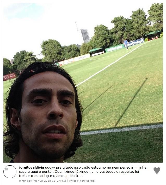 Valdivia no treino do Palmeiras