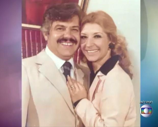Na juventude, com o marido Guilherme Corrêa (Foto: Reprodução/ TV Globo)