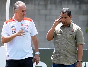Dorival Junior e Zinho no treino do Flamengo (Foto: Alexandre Vidal / Fla Imagem)