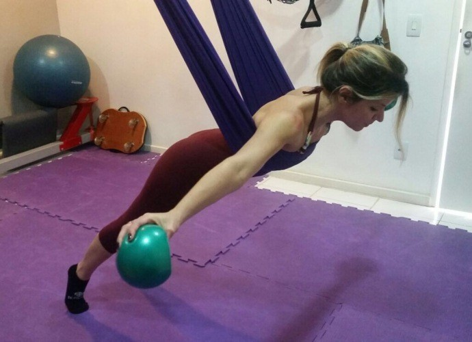 Mariana Santos pratica neopilates uma vez por semana (Foto: Arquivo Pessoal)