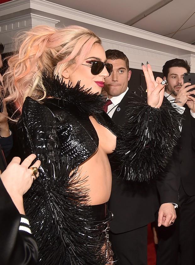 Lady Gaga no Grammy (Foto: Agência AFP)