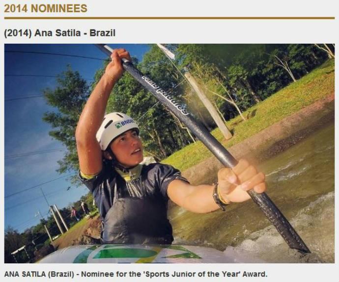 Ana Sátila concorre ao prêmio de melhor júnior da canoagem (Foto: Reprodução)