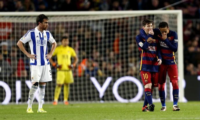 Neymar Messi Barcelona Real Sociedad (Foto: Alejandro García / EFE)