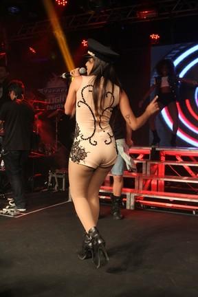Anitta se apresenta em São Paulo (Foto: Thiago Duran/ Ag. News)