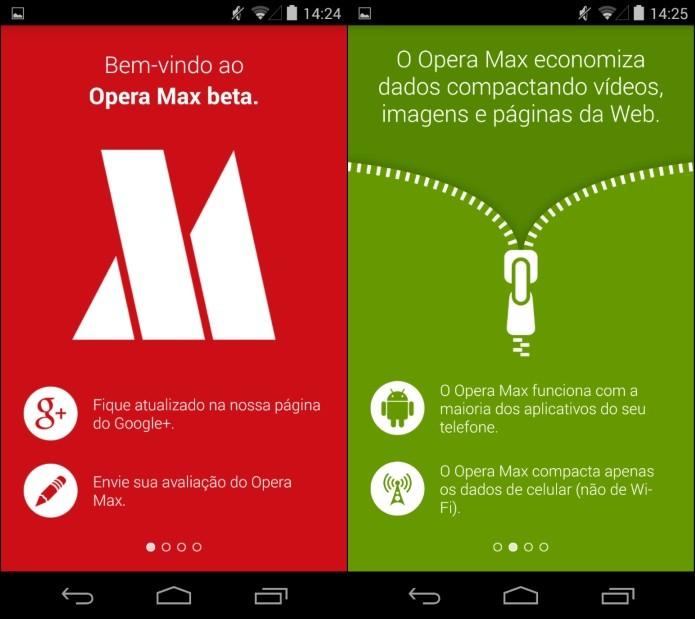 Introdução ao Opera Max (Foto: Reprodução/Helito Bijora)