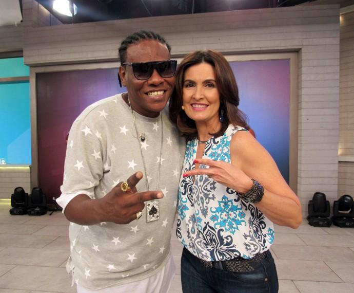 MC Sapão e Fátima: estilosos (Foto: Viviane Figueiredo Neto/Gshow)