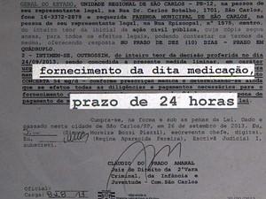 Liminar obrigava compra de medicamento após 24 horas (Foto: Marlon Tavoni/EPTV)