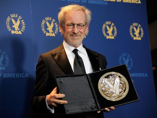 Steven Spielberg participa da cerimônia do Sindicato dos Diretores, que aconteceu no dia 2 de fevereiro (Foto: Chris Pizzello/AP)