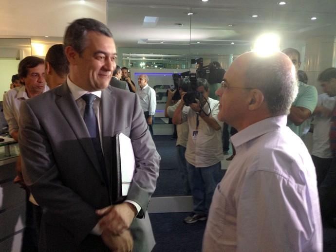 Eduardo Bandeira de Mello e Carlos Eduardo Cardoso (Foto: Vicente Seda)