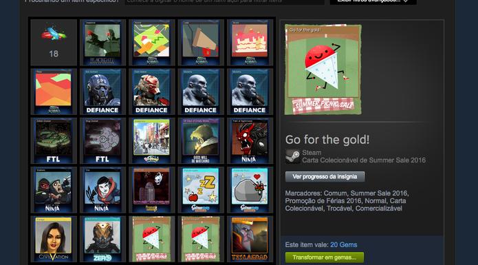 Cards podem ser obtidos na Summer Sale do Steam (Foto: Reprodução/Felipe Vinha)
