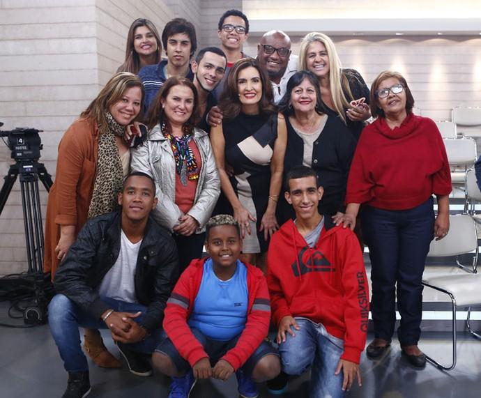 Mais plateia do programa com a Fátima  (Foto: Fábio Rocha/Gshow)