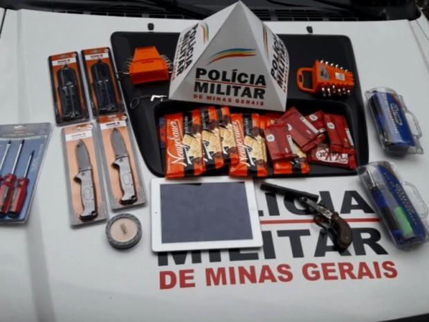 Polícia identifica e prende suspeitos de furtar loja no shopping de Varginha (Foto: Reprodução EPTV)