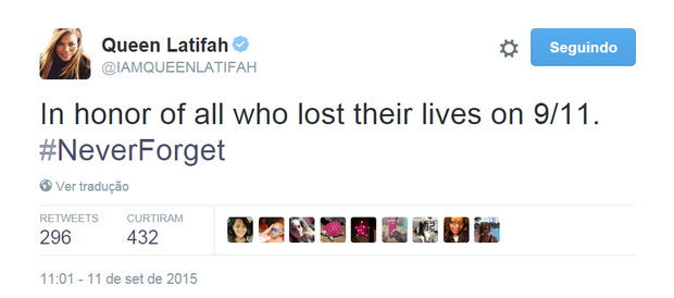 Queen Latifah (Foto: Reprodução/Twitter)