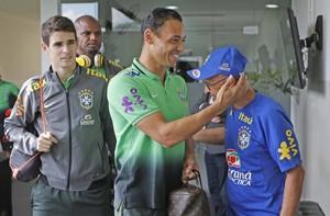 Ricardo Oliveira e Oscar seleção brasileira (Foto: Rafael Ribeiro/CBF)