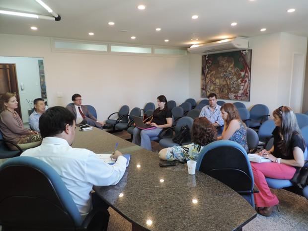 Reunião teve início às 11h desta segunda-feira (3) (Foto: Wellington Roberto/G1)