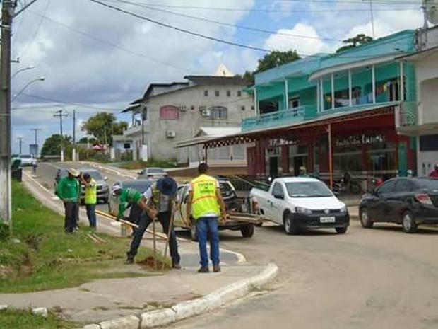 Estudantes participam de projeto no interior do Acre (Foto: Arquivo 12ª Ciretran)