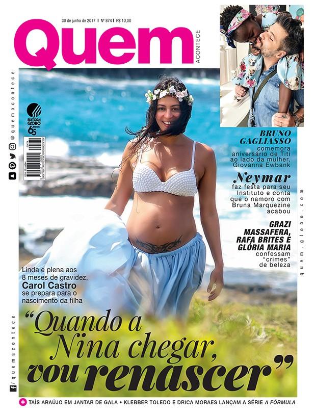 Carol Castro é capa da QUEM (Foto: Iaponã)