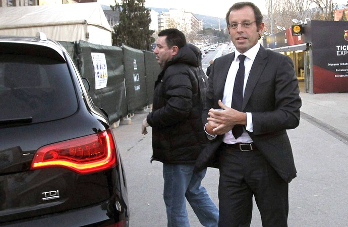 Sandro Rosell presidente do Barcelona reunião (Foto: EFE)