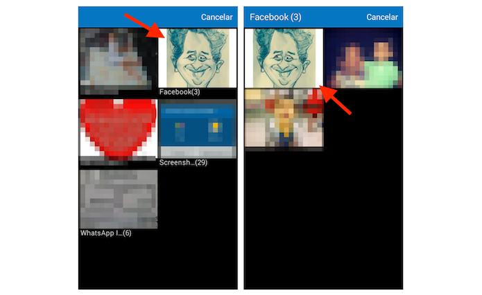 Escolhendo uma foto para o perfil do Periscope no Android (Foto: Reprodução/Marvin Costa)