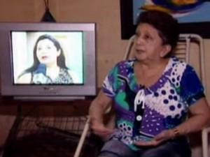 Don Glória é telespectadora da TV Clube há muitos anos (Foto: Reprodução/TV Clube)