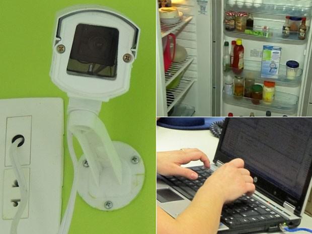 Câmera na empresa pode registrar furtos a comida e a notebooks   (Foto: G1/EPTV)