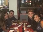 Giulia Costa janta com Eike Duarte depois de passarem tarde juntos