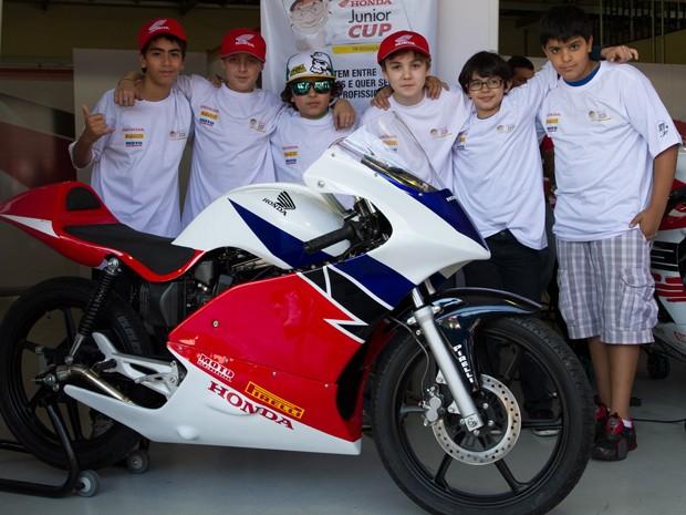 Pilotos mirins vão participar do torneio Honda Junior Cup (Foto: Divulgação)