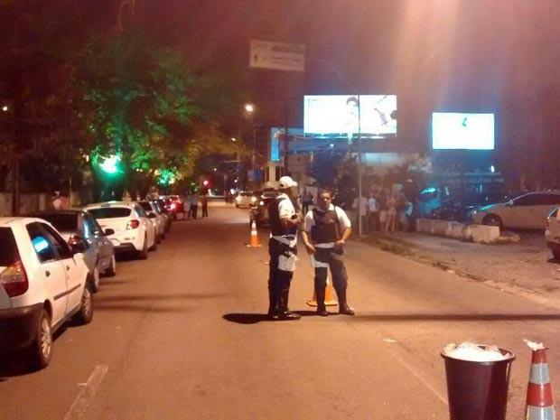 Blitz foi realizada na Avenida Salgado Filho na madrugada deste sábado (26) (Foto: Divulgação/Polícia Militar do RN)