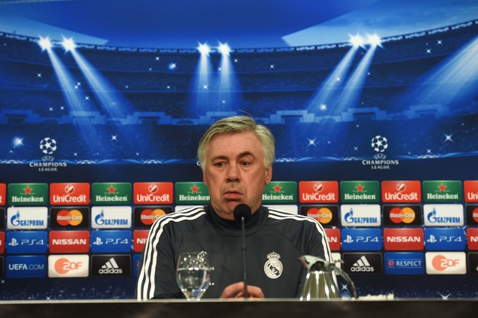 Ancelotti coletiva Real Madrid (Foto: AFP)