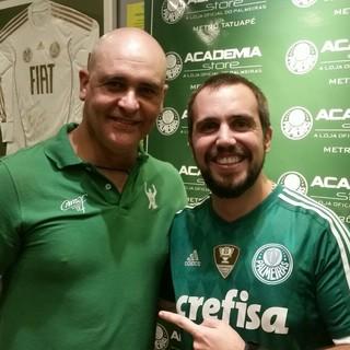 Marcos ex-goleiro Palmeiras evento (Foto: Divulgação/Academia Store)