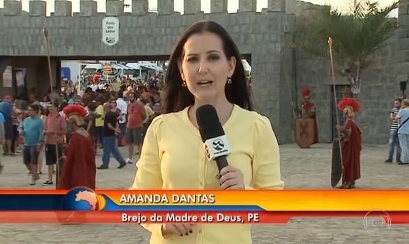 TV Asa Branca mostra em rede nacional Paixão de Cristo (Foto: Reprodução/ TV Asa Branca)