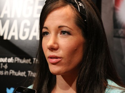 Angela Magana lutadoras do TUF 20 (Foto: Evelyn Rodrigues)