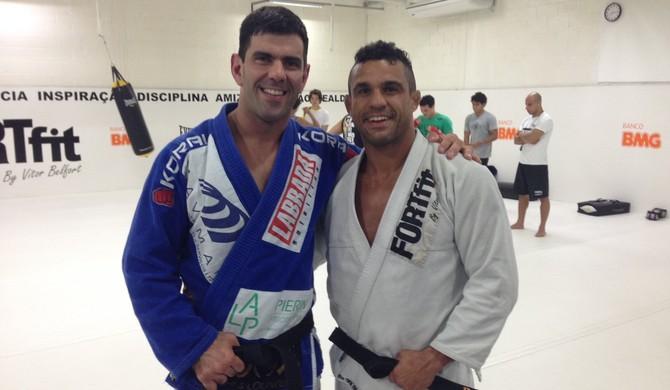 Rodrigo Cavaca treina Vitor Belfort (Foto: Divulgação / Zerri Torquato)