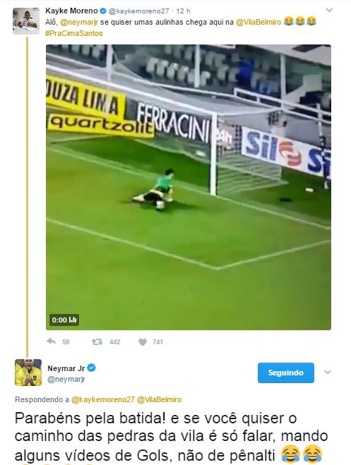 """BLOG: Neymar responde zoeira de Kayke: """"Se quiser o caminho das pedras, é só falar"""""""