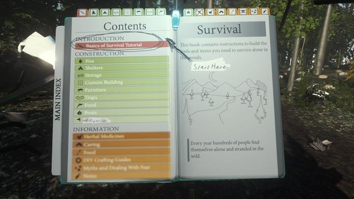 Veja todas as construções no guia de sobrevivência (Foto: Reprodução/Tais Carvalho)