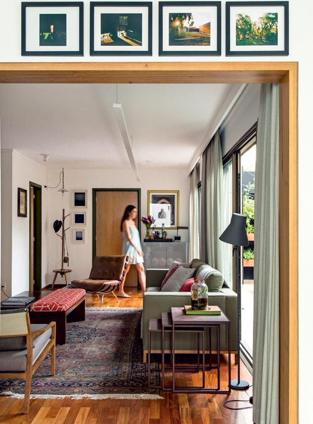 Apartamento com terraço e horta ganha ares de casa