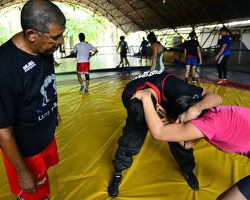 Técnico Dagoberto Arbolez luta olímpica amazonas (Foto: Mauro Neto/Sejel)
