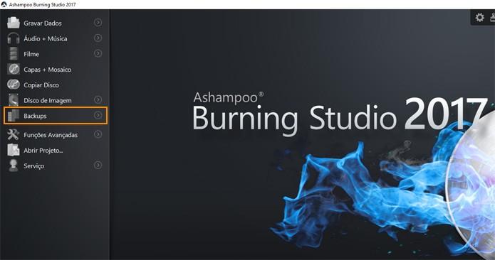 Abra o programa Ashampoo Burning Studio 2017 (Foto: Reprodução)