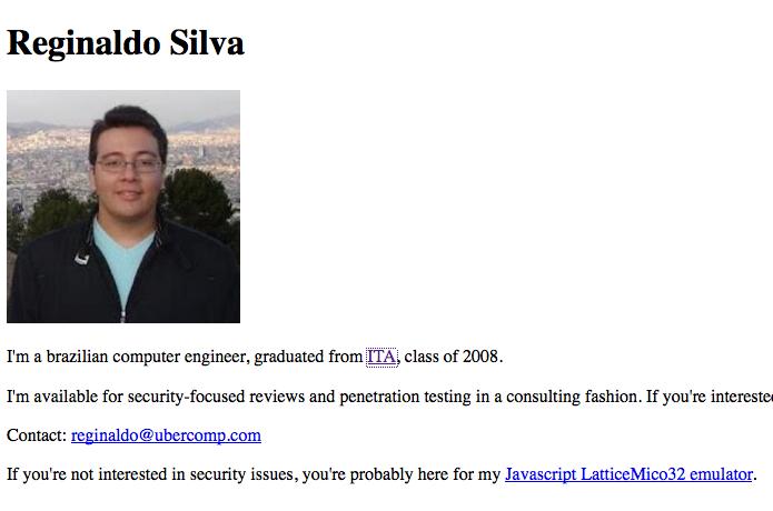 O brasileiro, ex-aluno do ITA, em sua página Ubercom.com, na Internet (Foto: Reprodução/TechTudo)