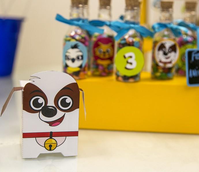 O 'paper toy' do Tito não poderia faltar, né?! (Foto: Isabella Pinheiro/Gshow)