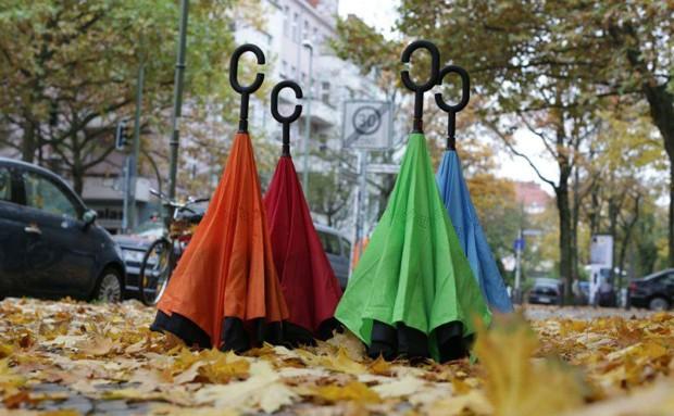 Start-up alemã recria guarda-chuva com design mais prático  (Foto: Divulgação)