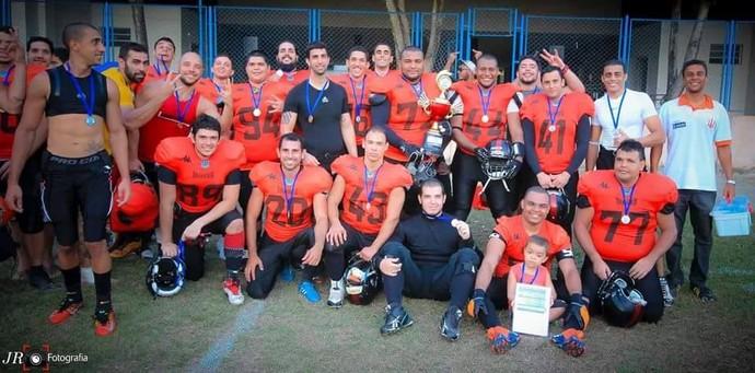 Campeonato Capixaba de futebol americano 2015: Vila Velha Tritões x Desportiva Piratas (Foto: JR Fotografia)