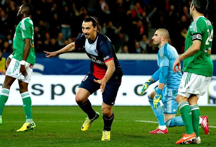 Ibrahimovic PSG gol Saint Etienne (Foto: Agência Reuters)