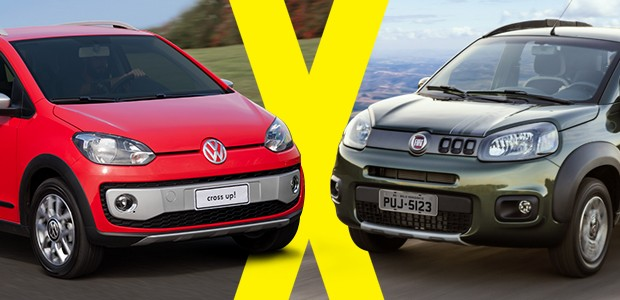 Jogo Rápido: Volkswagen Cross up! X Fiat Uno Way (Foto: Autoesporte)